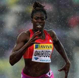 Christine Ohuruogu won the 400 metres at the Aviva London Grand Prix
