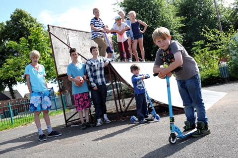 Youngsters at Booth Lane skate park want to see a complete overhaul of the facilities