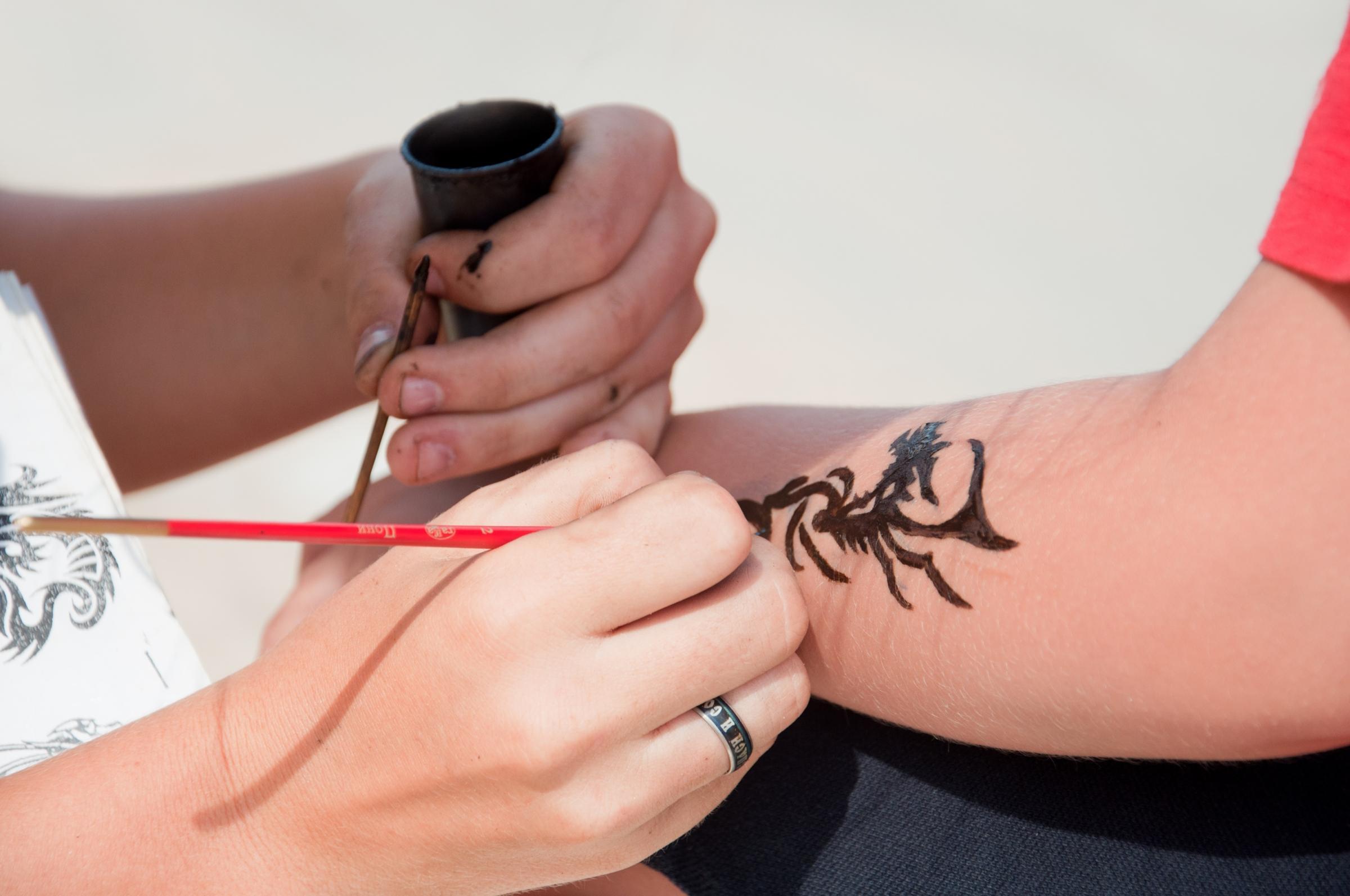 Как сделать тату в домашних условиях черную