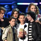 Middlewich Guardian: The Stranger Things cast, including Millie Bobby Brown (centre), accepting an MTV award (PA)