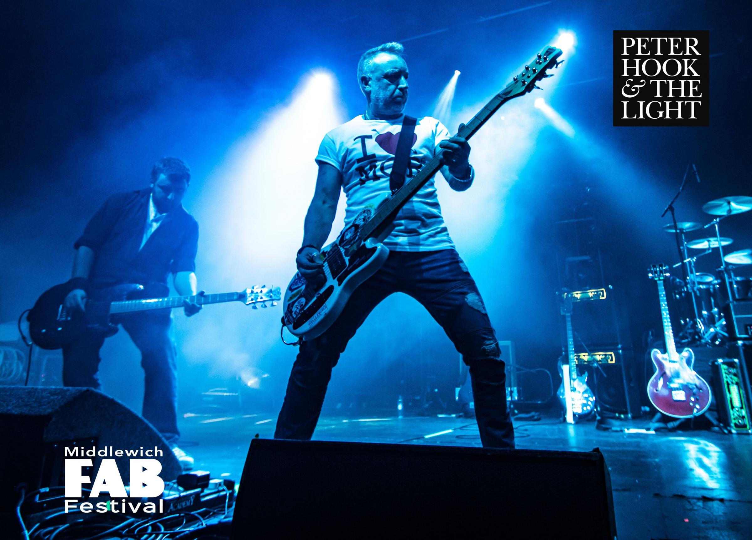 Peter Hook and the Light will be headlining this year's festival.
