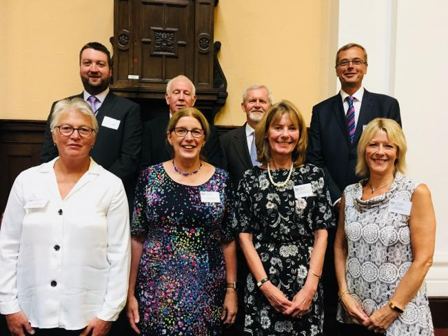 A selection of the new recruits for Warrington. From back, left, Robert Holt, Colin Moston, Stephen Pauline, Paul McGrath. From front, left, Dorothy Benjamin, Mary Meldrum, Karen Cook, Stephanie Preston