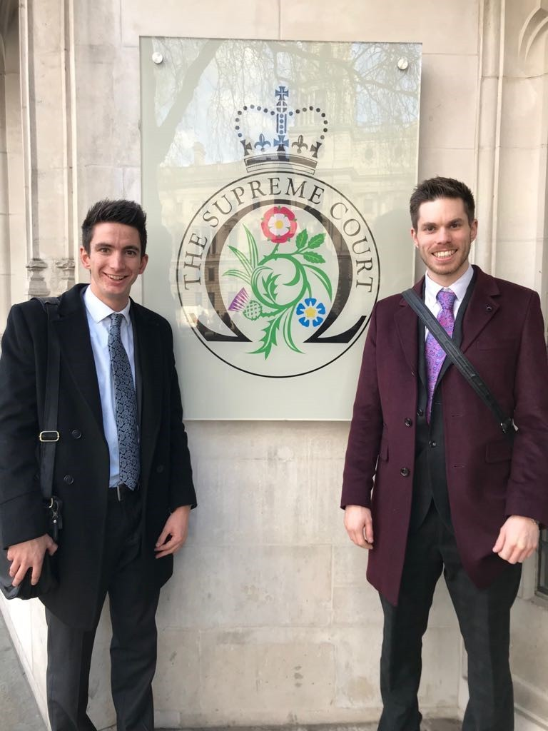 Alex Bailey (right) is one of the five students up and down the country to win the Lord Neuberger award